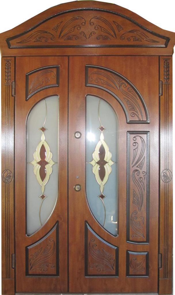 входные металлические теплые двери недорого для частного дома со стеклом