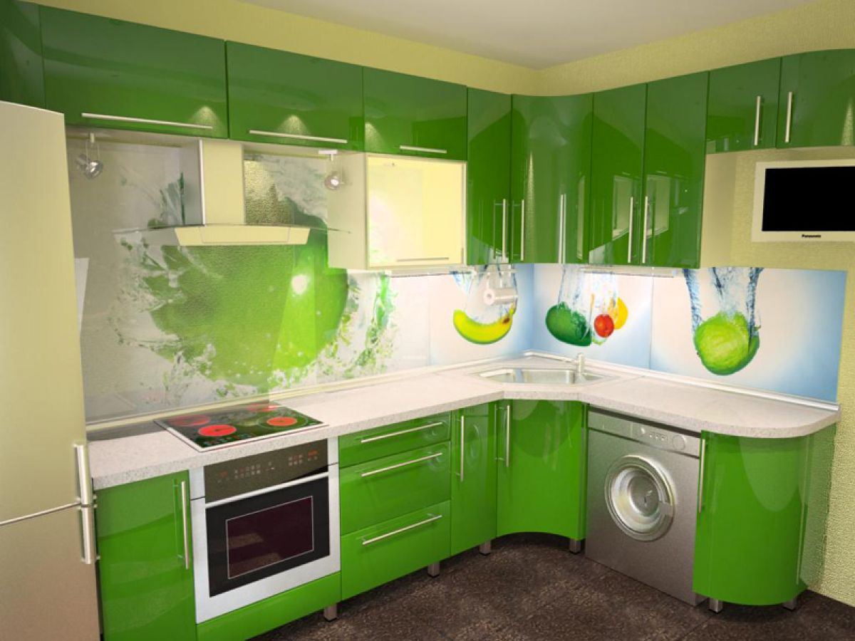 панели +для кухни из стекла